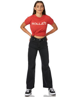 CHARCOAL STONE WOMENS CLOTHING ROLLAS JEANS - 126013776