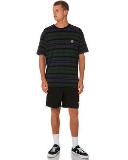 BLACK MENS CLOTHING STUSSY BOARDSHORTS - ST091601BLK