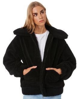 BLACK WOMENS CLOTHING VOLCOM JACKETS - B1531904BLK