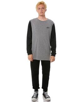 GREY MARLE MENS CLOTHING RVCA TEES - R183098AGRYM
