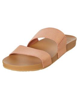 ROSE GOLD WOMENS FOOTWEAR REEF SLIDES - A3OKSRGL