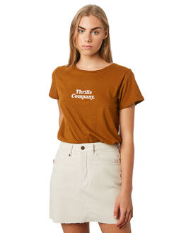 BRONZE WOMENS CLOTHING THRILLS TEES - WTR9-106CBRZ