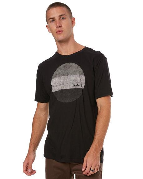 BLACK MENS CLOTHING HURLEY TEES - 892195010