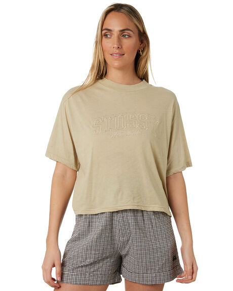 WHITE SAND WOMENS CLOTHING STUSSY TEES - ST193000WTSND
