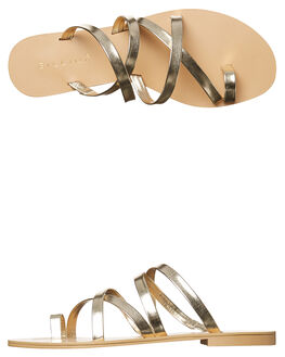 LIGHT GOLD METALLIC WOMENS FOOTWEAR BILLINI FASHION SANDALS - S402LTGLD