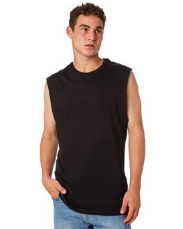 BLACK MENS CLOTHING BILLABONG SINGLETS - 9572509BLK