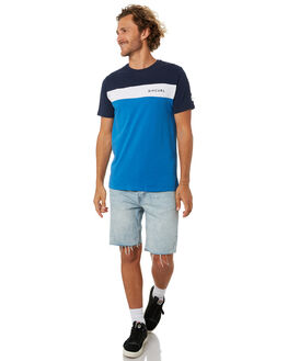 MID BLUE MARLE MENS CLOTHING RIP CURL TEES - CTESG28684
