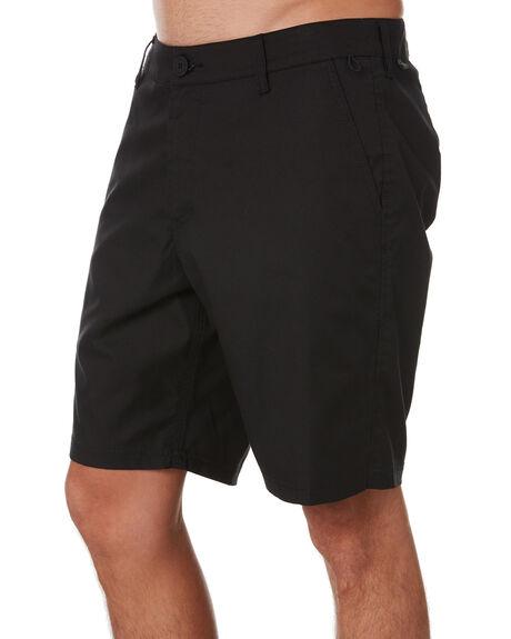 BLACK MENS CLOTHING GLOBE SHORTS - GB02006001BLK