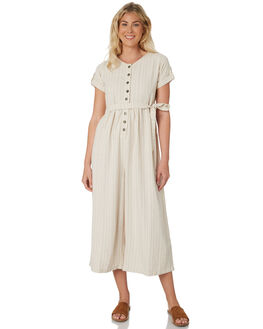 STRIPE TEXTURE WOMENS CLOTHING SAINT HELENA PLAYSUITS + OVERALLS - SHS19101STRT