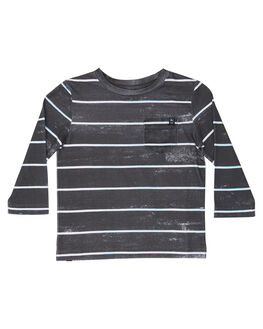 MULTI STRIPE KIDS BOYS ALPHABET SOUP TOPS - AS-KLA8291MUL