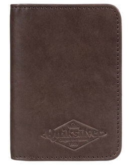 CHOCOLATE BROWN MENS ACCESSORIES QUIKSILVER WALLETS - EQYAA03774-CSD0