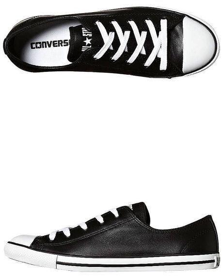 BLACK WOMENS FOOTWEAR CONVERSE SNEAKERS - 537107BLK