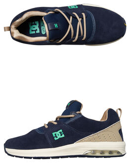 NAVY TURQUOISE MENS FOOTWEAR DC SHOES SNEAKERS - ADYS200035NT2