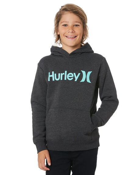 BLACK HEATHER TWIST KIDS BOYS HURLEY JUMPERS + JACKETS - AO2210033