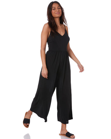 BLACK WOMENS CLOTHING SILENT THEORY PLAYSUITS + OVERALLS - 6063035BLK