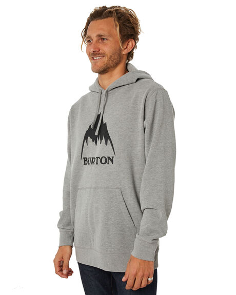 GREY HEATHER OUTLET MENS BURTON JUMPERS - 196821020