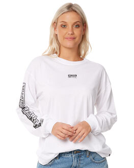 WHITE WOMENS CLOTHING RUSTY TEES - TTL0951WHT