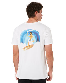 WHITE MENS CLOTHING ALOHA ZEN TEES - AZ467WHT