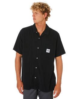 BLACK MENS CLOTHING STUSSY SHIRTS - ST005407BLK