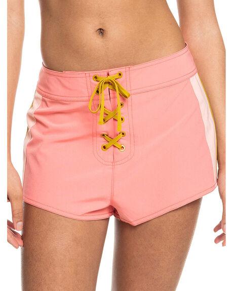 SHELL PINK WOMENS CLOTHING ROXY SHORTS - ERJBS03197-MHG0