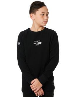 BLACK KIDS BOYS ST GOLIATH JUMPERS + JACKETS - 2432020BLK
