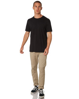 BLACK MENS CLOTHING AS COLOUR TEES - 5001BLK