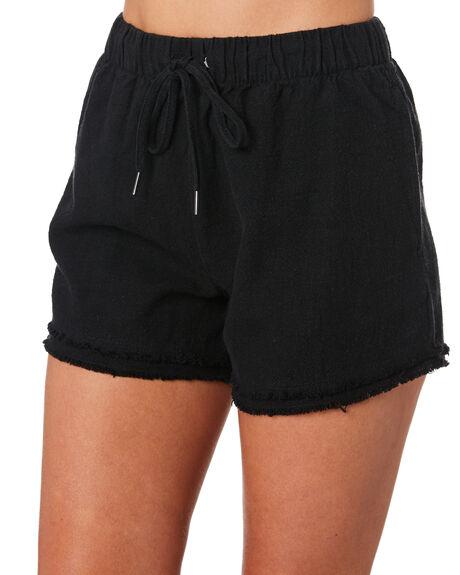 BLACK WOMENS CLOTHING RUSTY SHORTS - WKL0669BLK