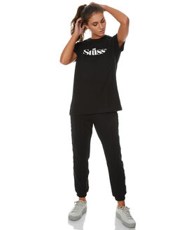 BLACK WOMENS CLOTHING STUSSY TEES - ST171027BLK