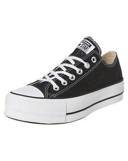 BLACK WOMENS FOOTWEAR CONVERSE SNEAKERS - 566282CBLK