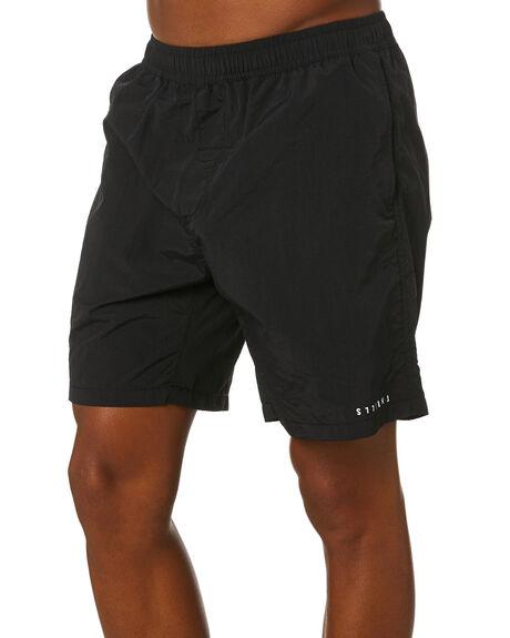 BLACK MENS CLOTHING THRILLS BOARDSHORTS - SMU20-301BBLK