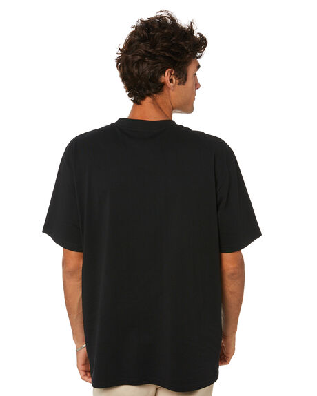 BLACK MENS CLOTHING FORMER TEES - FTE-21311BLK