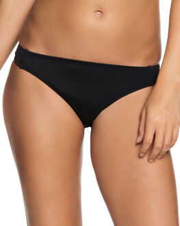 TRUE BLACK WOMENS SWIMWEAR ROXY BIKINI BOTTOMS - ERJX403603KVJ0