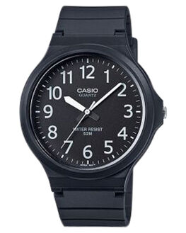 BLACK WHITE MENS ACCESSORIES CASIO WATCHES - MW240-1BBLKWH
