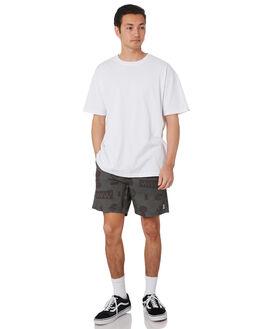 MILITARY BLACK MENS CLOTHING STAY BOARDSHORTS - SBO-1905MLBK