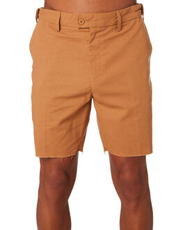 BURNT KHAKI MENS CLOTHING BANKS SHORTS - WS0128BTK