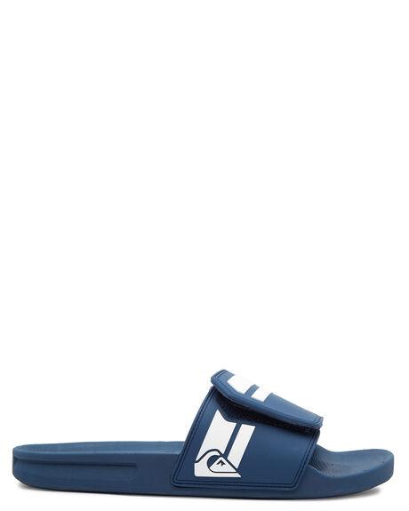 BLUE BLUE WHITE MENS FOOTWEAR QUIKSILVER THONGS - AQYL101038-XBBW