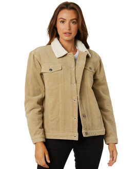 LIGHT FENNEL WOMENS CLOTHING RUSTY JACKETS - JKL0370LFN