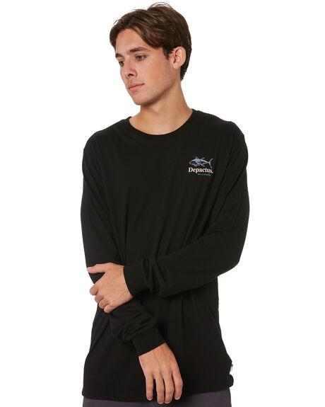 BLACK MENS CLOTHING DEPACTUS TEES - D5213102BLK