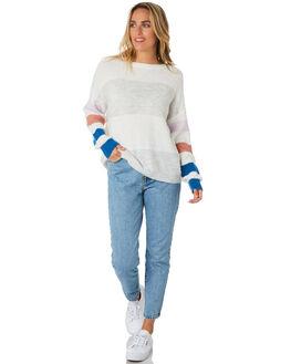 WHITE WOMENS CLOTHING ELWOOD KNITS + CARDIGANS - W01410WHITE