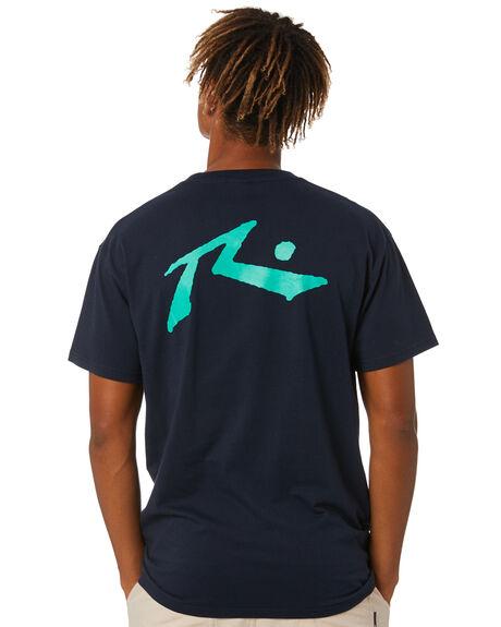 NAVY BLUE MENS CLOTHING RUSTY TEES - TTM1612NV1