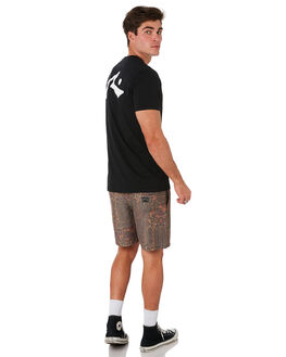 BLACK MENS CLOTHING RUSTY TEES - TTM1612BLK