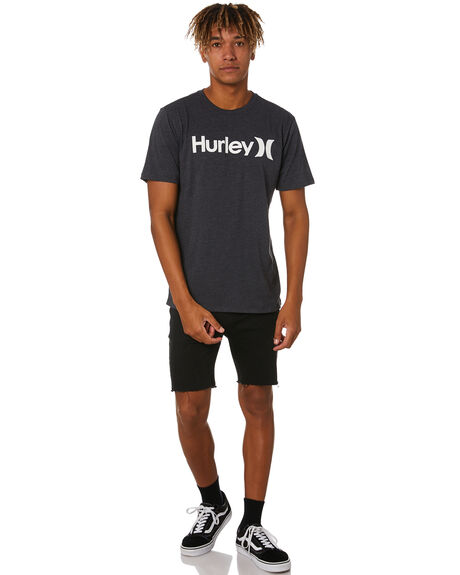 BLACK HEATHER WHITE MENS CLOTHING HURLEY TEES - AH7935036