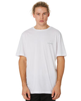 WHITE MENS CLOTHING RVCA TEES - R193042AWHT