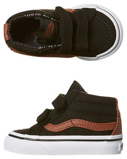 BLACK MATERIAL MIX KIDS TODDLER BOYS VANS FOOTWEAR - VN-A348JMMKBLK