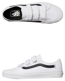 WHITE BLACK MENS FOOTWEAR VANS SNEAKERS - VNA2XSZYB2WHT