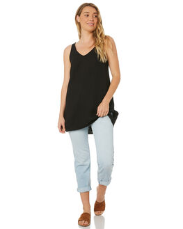 BLACK WOMENS CLOTHING WILDE WILLOW FASHION TOPS - K345BLK