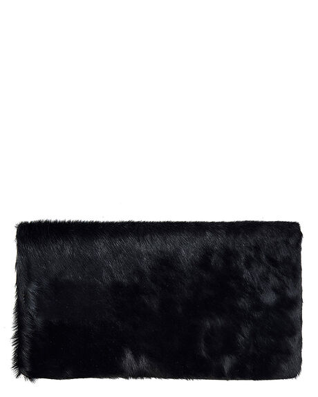 BLACK FUR WOMENS ACCESSORIES STATUS ANXIETY HANDBAGS - SA1261BBF