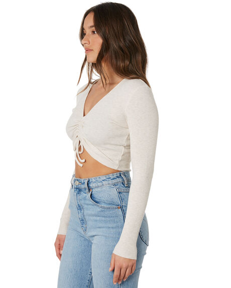 CREAM MARLE WOMENS CLOTHING NUDE LUCY TEES - NU24234CRML
