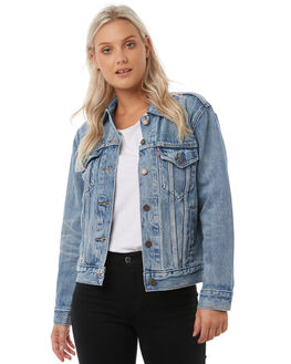 INDIGO ANTHEM WOMENS CLOTHING LEVI'S JACKETS - 29944-0025IND