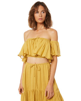 YELLOW WOMENS CLOTHING RUE STIIC FASHION TOPS - WS18-42-Y-CSYEL